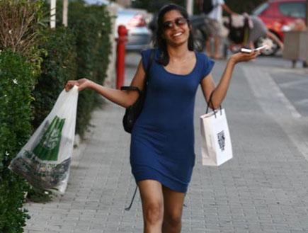 פרידה פינטו בנמל תל אביב, פפראצי (צילום: אלעד דיין)