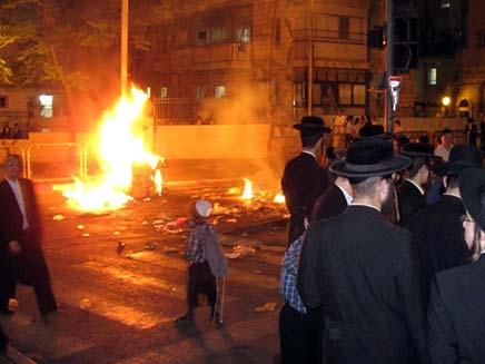 עימותים בין חרדים לשוטרים. צילום ארכיון (צילום: צילום חדשות 24)