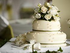 עוגת חתונה מפוארת