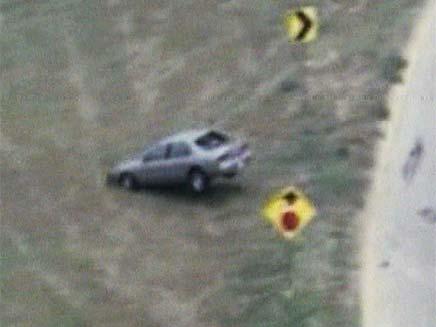 מרדף מכוניות בטקסס (צילום: חדשות 2)