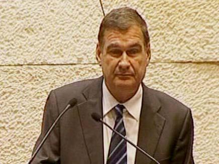 חיים רמון בנאום אחרון בכנסת (צילום: חדשות 2)