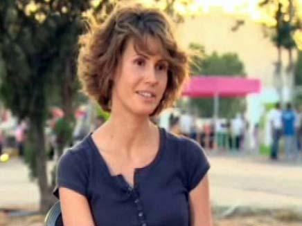 אסמה אסד. לקניות יש מחיר (צילום: חדשות 2)