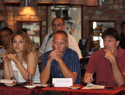 מארינה מקסימיליאן בלומין, אבישי כהן, ארז בר נוי (צילום: אריאל בשור)