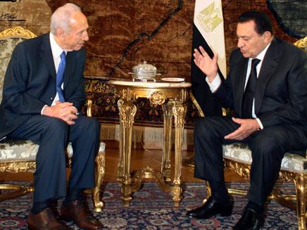 נשיא מצרים מובארק ונשיא מדינת ישראל שמעון פרס (צילום: רויטרס)