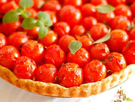 טארט עגבניות שרי צלויות ומיקרו בזיליקום-אבירם דותן (יח``צ: דן פרץ,  יחסי ציבור )