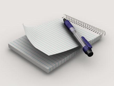 פנקס ועט (צילום: massar81, Istock)