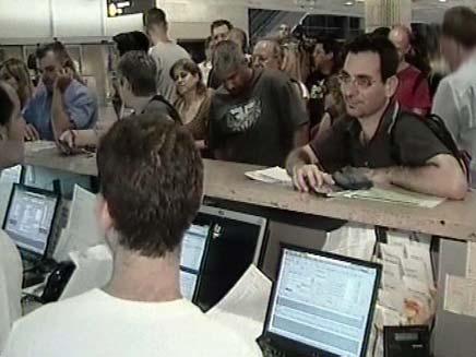 מבצע לילה לבן בשדה התעופה (צילום: חדשות 2)