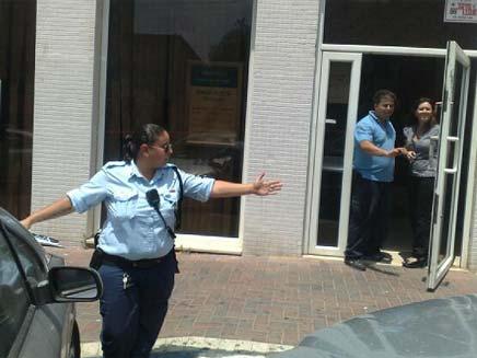 סניף בנק מסד בנתניה שנשדד (צילום: גלעד שלמור)