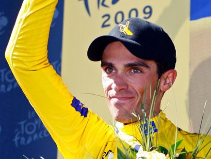 אלברטו קונטאדור זוכה בטור דה פראנס (צילום: רויטרס)