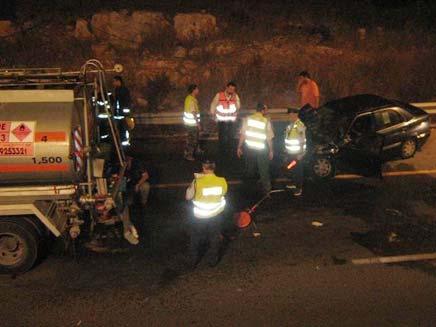תאונה קטלנית בוואדי ערה. ארכיון (צילום: HNN)