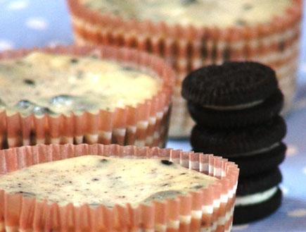 עוגות אישיות של אוראו וקרם גבינה (מתוקים שלי) (צילום: מתוקים שלי)