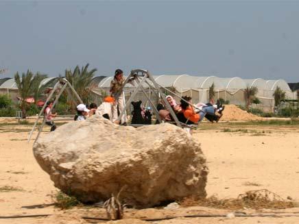 חממות גוש קטיף לאחר הפינוי (צילום: חדשות 2)