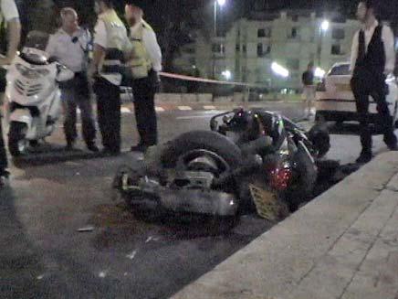 רוכב אופנוע נפצע קשה. ארכיון (צילום: חדשות 2)