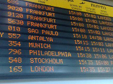 הטיסות הופנו לירדן וטורקיה (צילום: גלעד שלמור)