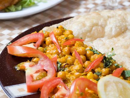 צ'אנה מסאלה של מסעדת אינדירה (יח``צ: גיא הכט,  יחסי ציבור )