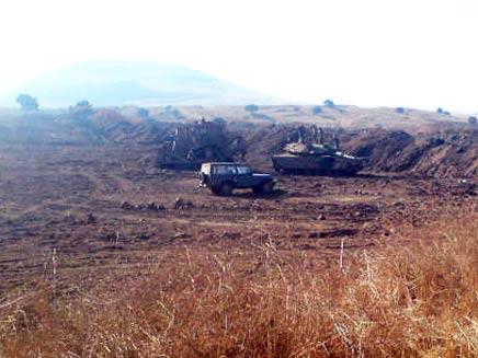 תאונת אימונים ברמת הגולן (צילום: גדעון וקנין)