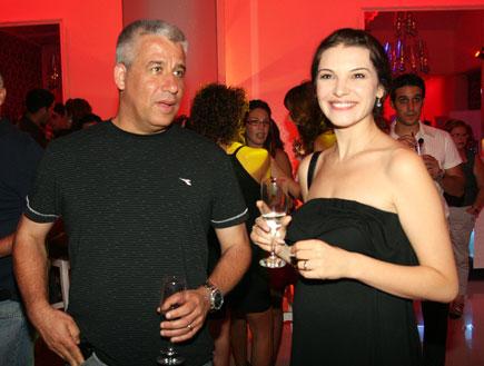 אירוע השקה קלאו - מרינה שויף ובעלה (צילום: אורי אליהו)