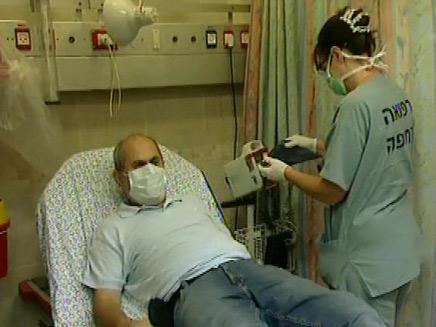 חרדה במיון משפעת החזירים (צילום: חדשות 2)