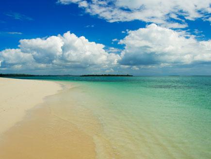 חול ומים על החוף בזנזיבר (צילום: Hamady, Istock)