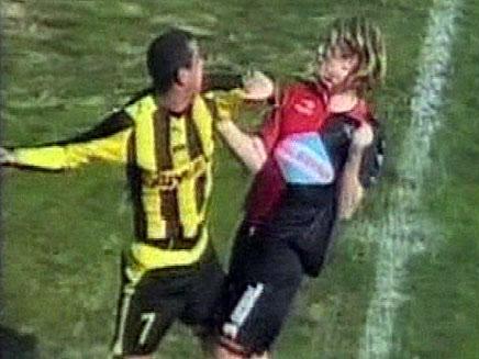 מכות בכדורגל באורוגוואי (צילום: חדשות 2)