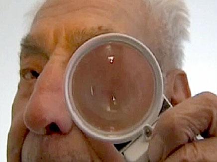 זקן שחזר לראות (צילום: חדשות 2)