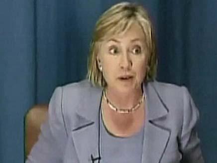 הילארי קלינטון כועסת (צילום: חדשות 2)