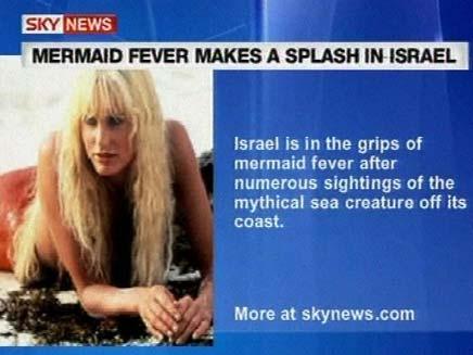 מסקרים את בתולת הים בקריית ים ב CNN (צילום: SKYNEWS)
