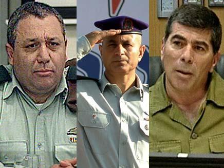 גבי אשכנזי עימאד פארס וגדי אייזנקוט (צילום: חדשות 2)