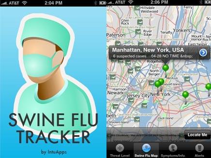אפליקציה לגילוי שפעת החזירים לאייפון (צילום: מתוך בלוג אפליקציות לאייפון)