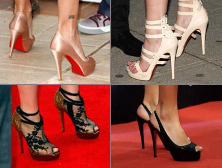 קולאז' נעלי עקב גבוהות (צילום: Bryan Bedder, GettyImages IL)