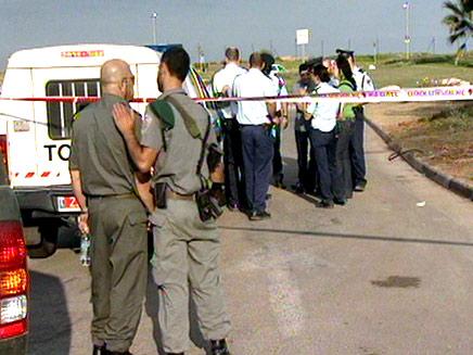 רצח בחוף תל ברוך (צילום: חדשות2)