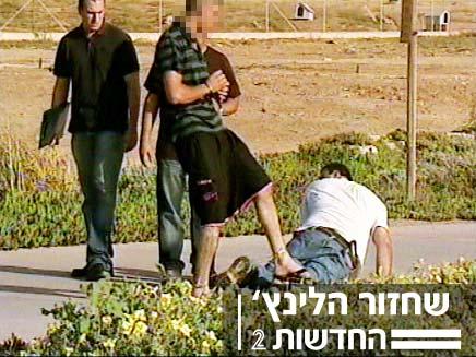 שחזור הרצח בטיילת תל ברוך (צילום: חדשות 2)