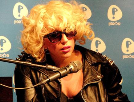 ליידי גאגא מסיבת עיתונאים 1 (צילום: טל פרי)