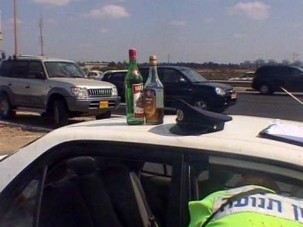 השוטרים הוכיחו: נסע במהירות מופרזת (צילום: חדשות 2)