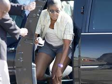 מישל אובמה במכנסיים קצרים (צילום: AP)