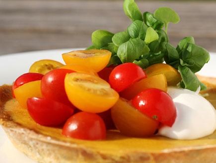 קיש עגבניות שרי - מסעדת בריבה (יח``צ: אבי ולדמן,  יחסי ציבור )