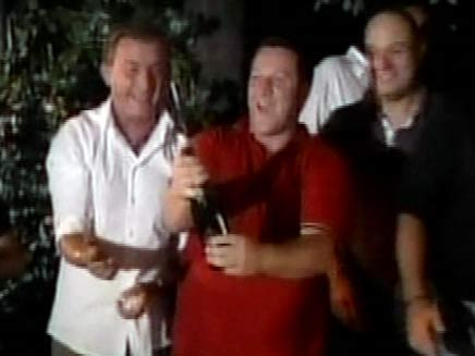 חגיגות שמחה לאחר הגרלת הלוטו באיטליה (צילום: חדשות 2)