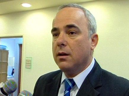"""שטייניץ נגד פרס: """"אינו דובר הממשלה"""" (צילום: חדשות 2)"""