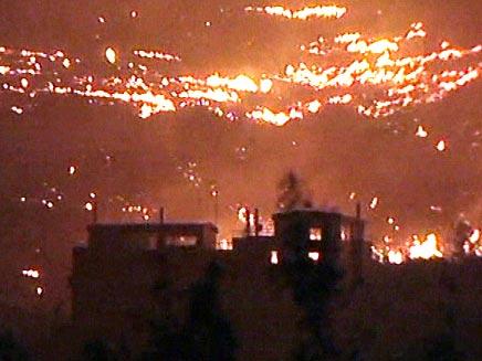 שריפות באתונה (צילום: חדשות 2)
