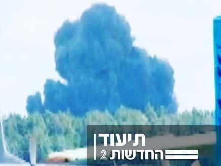 התרסקות מטוס (צילום: חדשות 2)