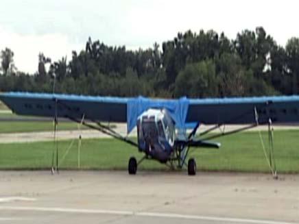 המטוס שנורה על ידי ג'ודי דייוויס (צילום: Fox News)