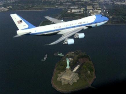 """בדרך לנתב""""ג. המטוס הנשיאותי, ארכיון (צילום: חדשות 2)"""