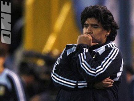 דייגו מראדונה מאמן נבחרת ארגנטינה (צילום: רויטרס)