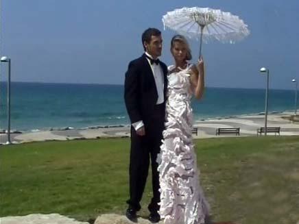 שמלת כלה חד פעמית (צילום: חדשות 2)