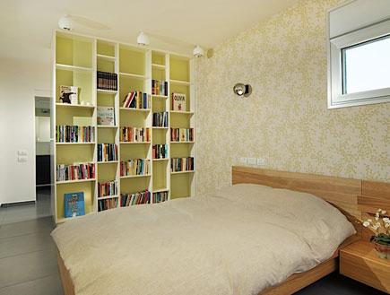 חדר שינה אחרי השיפוץ- גלית שיף (צילום: הרברט בישקו)