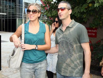מרב מילר ובן זוגה - אירוע גולדסטאר (צילום: אורי אליהו)