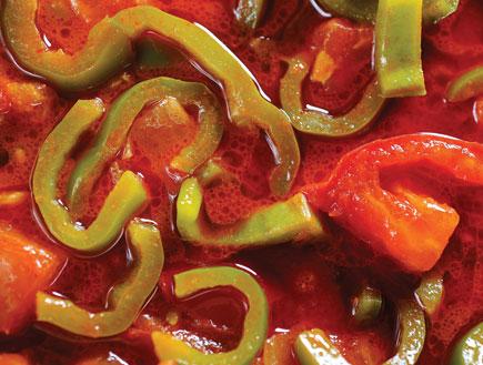 תבשיל עגבניות ופלפלים (צילום:  יחסי ציבור )