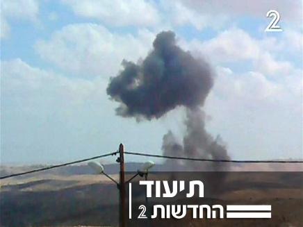 עשן במקום ההתרסקות (צילום: חדשות 2)