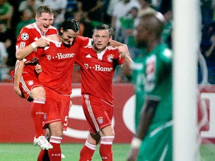 מכבי חיפה מפסידה לבאיירן מינכן (צילום: AP)