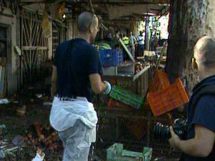 זירת הפיגוע בחדרה (צילום: חדשות 2)